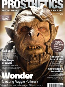 Shadow of War Orc on the cover of Prosthetic Magazine, with 10 page interview on making of the orcs for Unreal